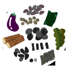 검은색 곡물