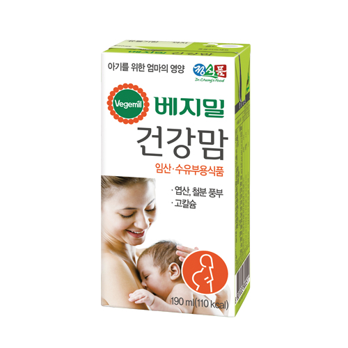 베지밀 건강 맘 두유 190mlx96
