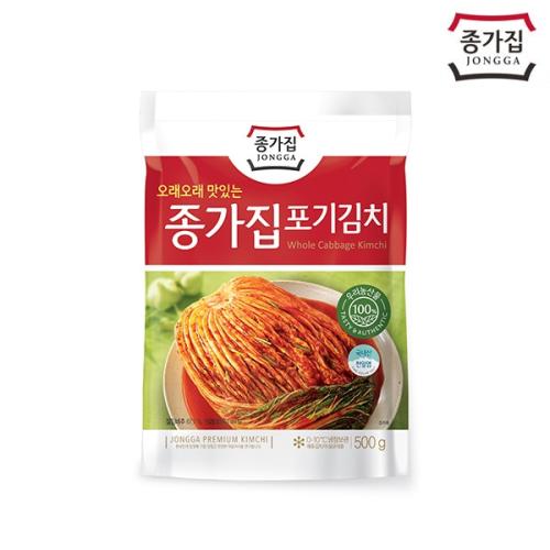 종가집 포기김치500g (파우치)