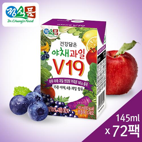 정식품 건강담은 야채과일V19 145mlx72팩