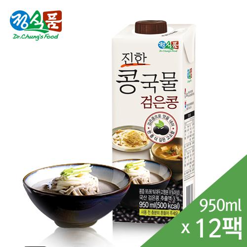 진한 콩국물 검은콩 950mlx12팩