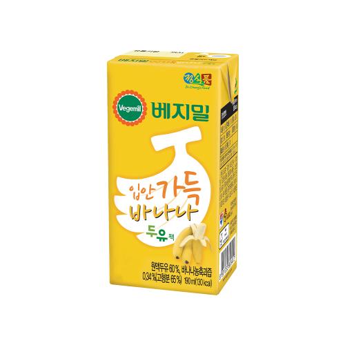 베지밀 입안가득 바나나 두유 190mlx96팩