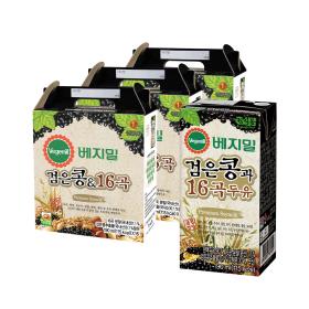 베지밀 검은콩과 16곡 두유(팩) 190ml