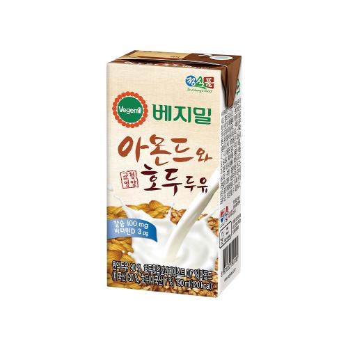 베지밀 아몬드와 호두 두유 190mlx24팩