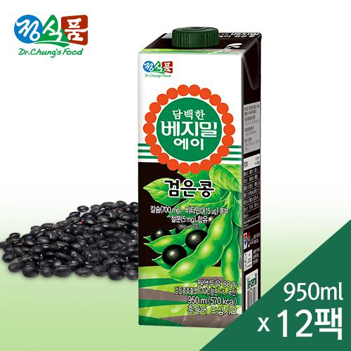 담백한 베지밀 A(에이) 검은콩 두유 950mlx12팩