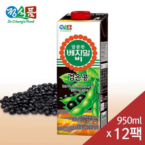 달콤한 베지밀 B(비) 검은콩 두유 950mlx12팩
