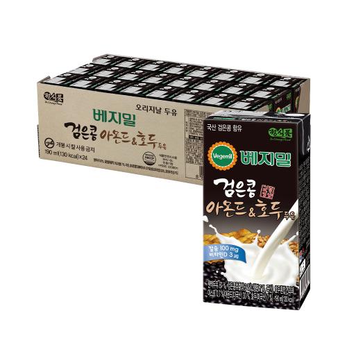 베지밀 검은콩과 아몬드호두 두유 190mlx24팩(T)