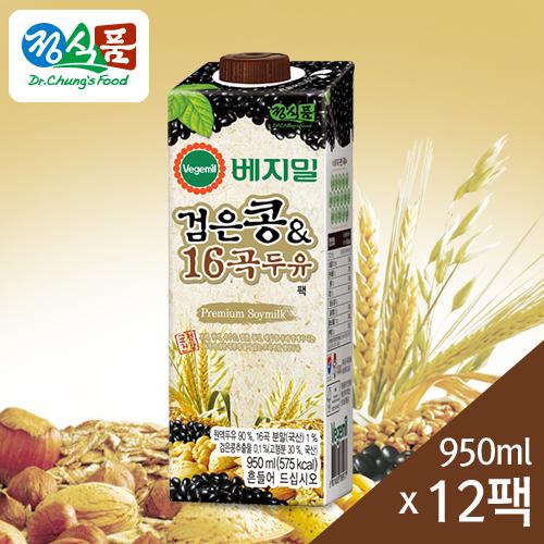 베지밀 검은콩과 16곡 두유 950mlx12팩