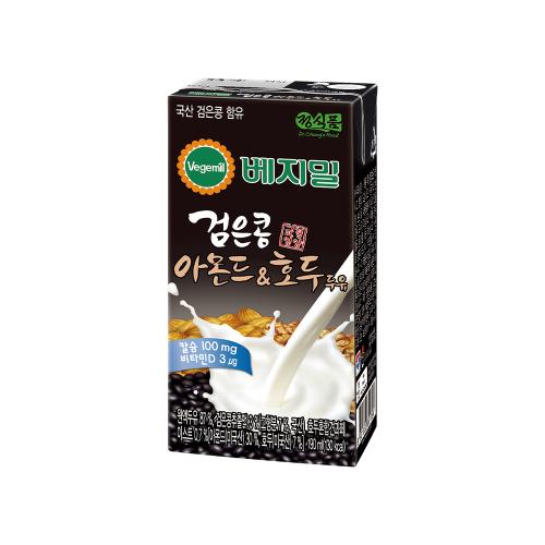 베지밀 검은콩과 아몬드호두 두유 190mlx96팩