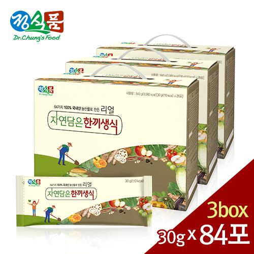 정식품 리얼 자연담은 한끼생식 30gx84포