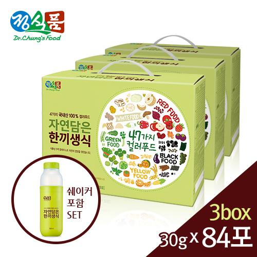 정식품 자연담은 한끼생식 30gx84포+쉐이커