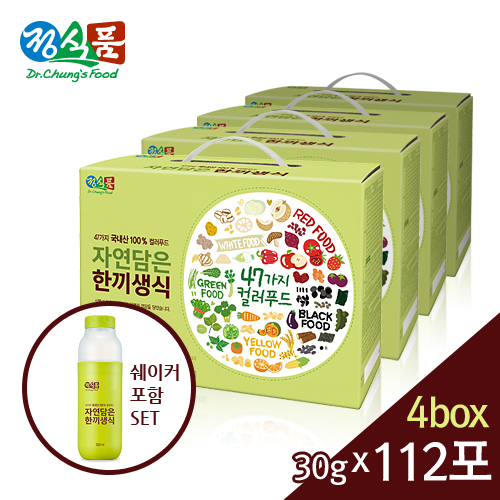 정식품 자연담은 한끼생식 30gx112포+쉐이커